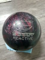 Columbia 300 Scout Reactive Bowling Ball Purple Sparkle Swirl 13.91 pounds b035