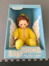 Vintage HORSMAN BABY THUMB Doll YELLOW SUPER RARE MADE IN USA W/Box StyleNo 555