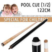 48''' 122CM 2-Piece 1/2 Wood Cue Stick Snooker Billiards Pool for Children