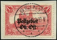 Postgebiet Ob. Ost Dt. Besetzung 1. WK 12 A Briefstück Sejny Geprüft BPP Luxus