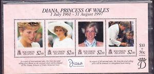 Solomon Islands postage stamp -1997 Diana Mem. Minisheet MNH