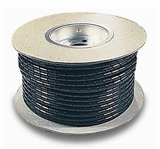 """200 FOOT 5/8"""" BLACK CABLE HARNESS POLYETHYLENE SPIRAL WRAP UV RATED 16mm"""