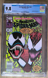 AMAZING SPIDER-MAN #363 CGC 9.8 WHITE PAGES // CARNAGE APPEARANCE NEWSSTAND 1992