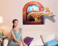 3D giraffe Home Room Decor Removable Wall Stickers Decal Decorations