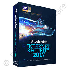 Bitdefender Internet Security 2017 2018 3 PC Users 1 Year Licence Activation Key