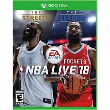 NBA LIVE 18 Xbox One Basketball Video Game James Harden Sports 2K Kyrie Shaq