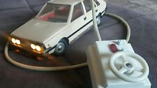 VINTAGE FIAT POLSKI POLONEZ TIN PLASTIC TOY CAR BATTERY OPERATED REMOTE POLAND