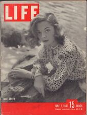 LIFE June 2,1947 Jane Greer / Lynch Trial / 5 Yr Old Wrecks Train / Paris Lights