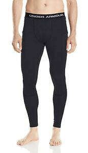 Under Armour 1281110 Men's Base 4.0 Fitted Performance Leggings 3XL Black Gray