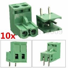 10 pcs 5.08mm Pitch 2Pin Plug-in Screw PCB Terminal Block Connector Right Angle