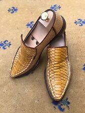 Oliver Sweeney Men's Shoes Yellow Snakeskin effect Ravioli Loafers UK 7 US 8 41