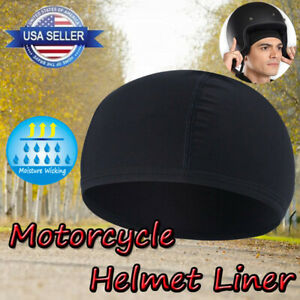 Men's Moisture Wicking Skull Cap Motorcycle Helmet Liner Beanie Hat Dome Cap US