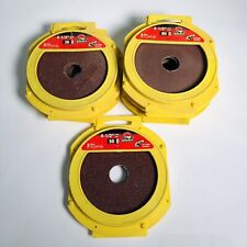 """Lot Of 6-3 Packs Of 4 1/2"""" Sanding Disc 36, 50, And 80 Grit"""