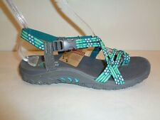 Skechers Size 9 REGGAE LOOPY Mint Amp Green Toe Ring Sandals New Womens Shoes