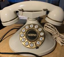 Vintage Cream Metropolis Cradle Push Button Phone