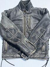 Rare Harley Davidson Men's PANHEAD Convertible Leather Jacket Vest Vintage Small
