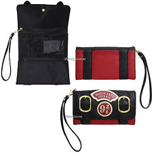 Licensed Harry Potter Hogwarts Express 9 3/4 Trifold Flap Wallet Double Buckle