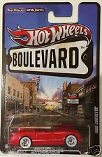 B14 HOT WHEELS BOULEVARD 1955 CORVETTE AHEAD OF ITS TIME CHEVROLET  RED 1:64