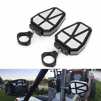 UTV Offroad Aluminum Side View Mirrors Rear Mirrors 1.75 Clamp For Polaris RZR