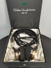 More details for vintage 1970's sansui sh-15 stereo headphones with original case