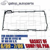 Sump/Oil Pan Gaskets VT VU VX VY VZ VE VF WH GEN3 LS1 LS2 LS3 5.7L 6.0L 6.2L V8