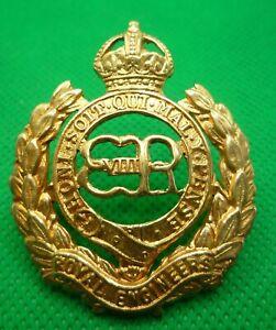 Royal Engineers Edward VIII Gilt Cap Badge