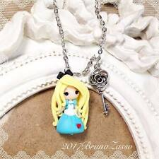 Collana Chibi Alice Cute Disney Fimo Polymer Clay Kawaii tiny Princess Handmade