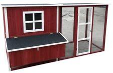 "New listing New 87"" Backyard Wood Chicken Coop Hen House 4-6 Chickens Nesting Box & Run"