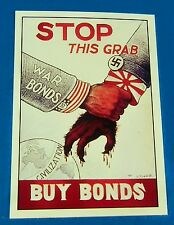 "BUY WAR BONDS STOP THIS GRAB JAPAN Nazi World War II Reprint POSTER 12"" x 18"""