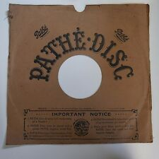 30cm PATHE gramophone record sleeve , nouveau corners