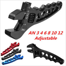 Black Adjustable Aluminum Alloy Wrench Fitting Tool Spanner For AN 3 4 6 8 10 12
