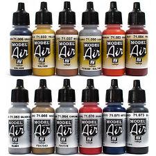 Vallejo Airbrush Farben Set 12x 17ml *Bunt - Metallic Airbrushfarben Acrylfarben