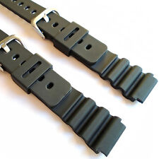 WATCH STRAP fits CASIO DW7000 & all 18mm Black Rubber Resin Replacement Band UK