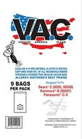 9 Cloth Vacuum Bags To Fit Kenmore 5055 C & Q by Vacuum America Clean