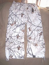 000d260c14757 Mens XL Snow Camo Pants Lined Hunting Pants True Timber Camo Pants Water  Resista