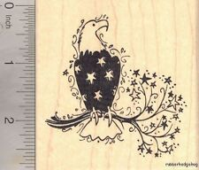 American Eagle Rubber Stamp, with Patriotic Feathers fourth of July L17514 WM