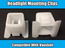 2x Clips For Vauxhall Corsa B Omega Frontera Senator Headlamp White Plastic