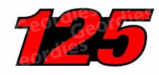 MERCURY 125 (number only) OUTBOARD MOTOR STICKERS DECAL KIT ENGINE