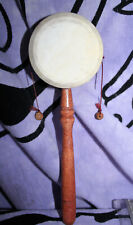 Hand Drum Percussion Pellet/Monkey/Rattle Drum SIMPLE TO PLAY Made in Bali 9x3""