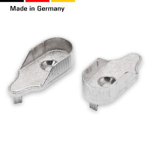 2 Schrankrohrlager für ovale Rohre 15 mm, Zinkdruckguß,vernickelt, 2 Zapfen