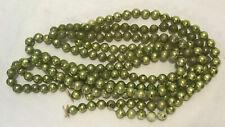 Gorgeous Chartreuse Green Christmas Tree Mercury Glass Bead Garland Very Good