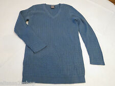 Womens women's Ann Taylor long sleeve XS blue sweater shirt top EUC pre-owned#