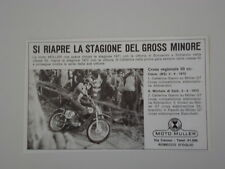 advertising Pubblicità 1972 MOTO MULLER CROSS 50