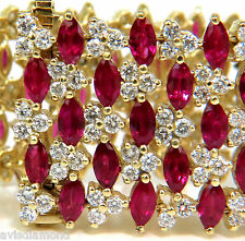 █$40,000 VIDEO 43.20 NATURAL TOP GEM RUBY DIAMOND BRACELET BRILLIANT BLOOD REDS