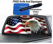 AMERICAN FLAG EAGLE Rear Window Graphic Decal Truck suv riv2