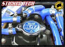 BLITZ BLUE AND CHROME 1.3BAR RADIATOR CAP STICKER DECAL SUIT GTR SKYLINE S13 S15