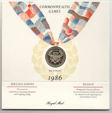 1986 £2 COIN Commonwealth Games - BU Presentation Pack