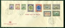 GREENLAND 1945, Complete set on FDC tied Godthaab, VF