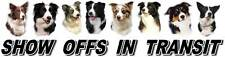BORDER COLLIE  Show Off Dog Car Sticker by Starprint