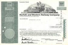 Norfolk and Western Railway Compagny Certificate 1978 (411780)